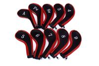 Zipper design golf iron headcovers