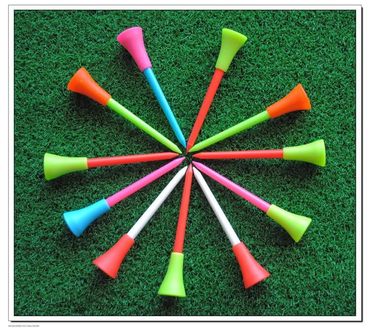 durable rubber plastic golf tee
